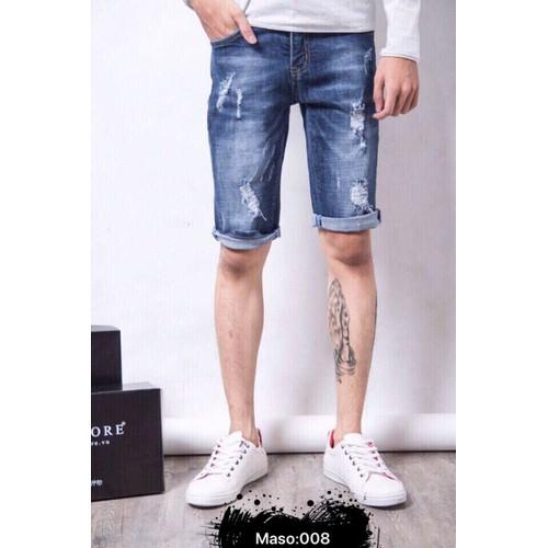 Quần short jeans nam thời thượng