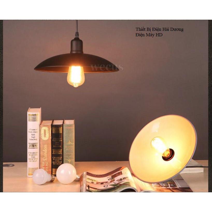 Chao đèn thả trang trí hình đĩa TN021 - Đen - Tặng kèm bóng led 3w - Energy Green Lighting