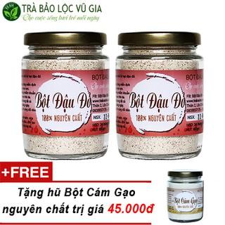 Combo 2 Bột Đậu Đỏ Nguyên Chất Vũ Gia + Tặng 1 Bột Cám Gạo Nguyên Chất - [100gr-hũ] - 2BDD100+BCG100 thumbnail