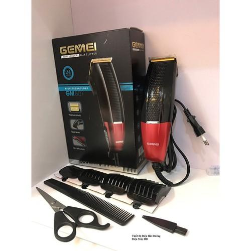 Tông đơ cắt tóc GEMIE siêu bền lưỡi dao không gỉ GM807