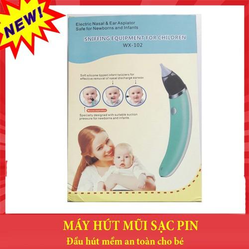 Máy hút mũi trẻ em dùng Pin sạc đầu hút mềm an toàn cho bé - 8028427 , 17708129 , 15_17708129 , 350000 , May-hut-mui-tre-em-dung-Pin-sac-dau-hut-mem-an-toan-cho-be-15_17708129 , sendo.vn , Máy hút mũi trẻ em dùng Pin sạc đầu hút mềm an toàn cho bé