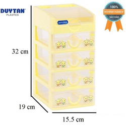 Tủ nhựa Duy Tân Tomi Mini 5 tầng-rộng 15,5cm x sâu 19cm x cao 32cm