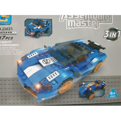 non-lego ausini 25621 xe đua thể thao 3 trong in 1 đồ chơi lắp ráp ghé