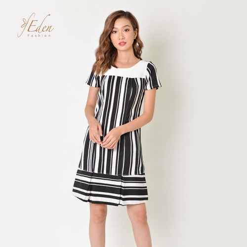 Đầm Suông Thời Trang Eden Kẻ Sọc - D340
