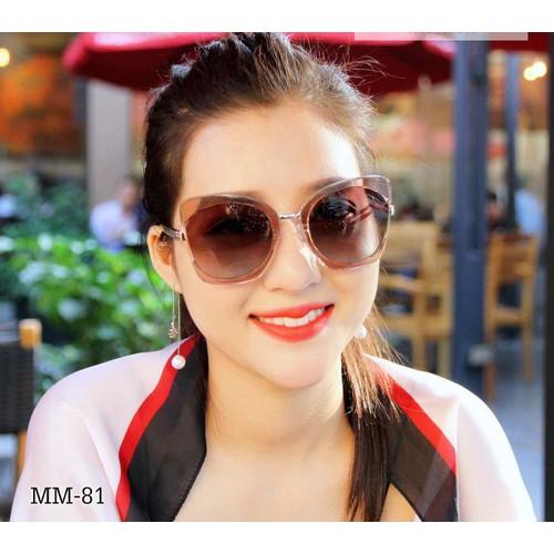 Kính râm Nữ Mắt mèo thời trang - Hàng Super Hồng Kong