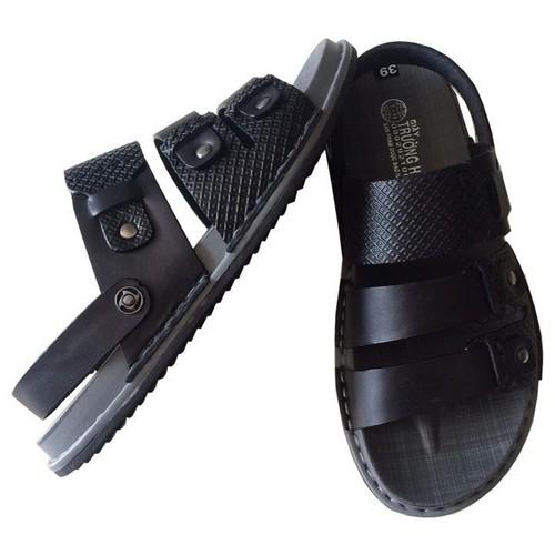 Dép nam sandal da bò cao cấp Trường Hải SD096