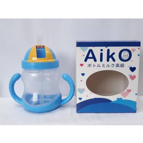 Bình uống nước có ống hút cho bé Aiko