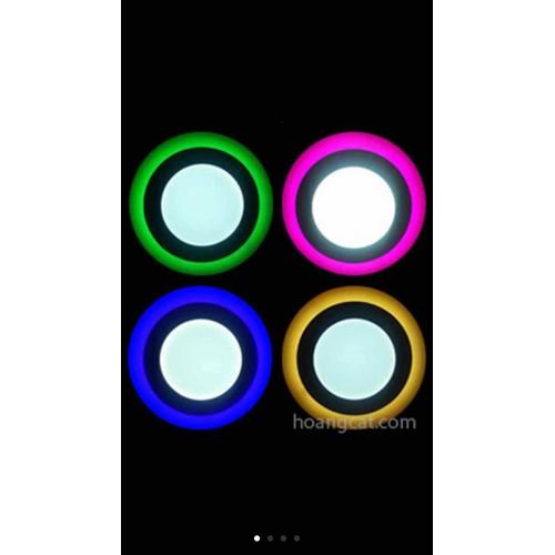 đèn âm trần viền màu