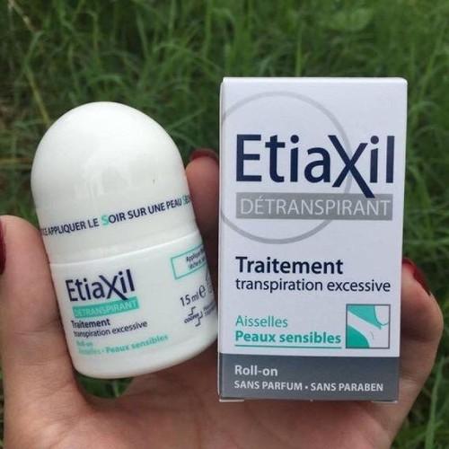 Lăn khử mùi đặc trị hôi nách Etiaxil 15ml - xanh