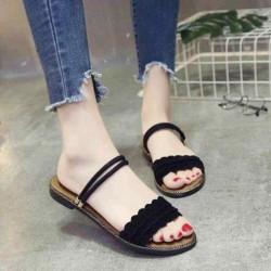 Sục nữ – Giày sandal nữ đế bệt thời trang