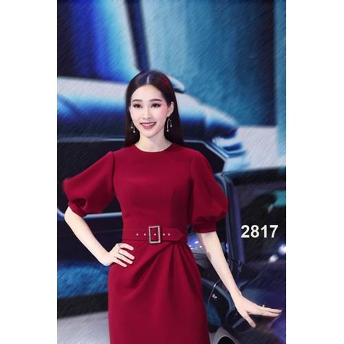 Đầm xòe đỏ đô dự tiệc 2817