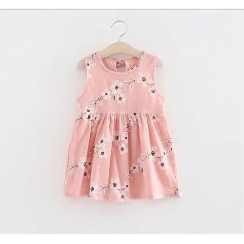 Váy Hè Họa Tiết Hoa Cho Bé