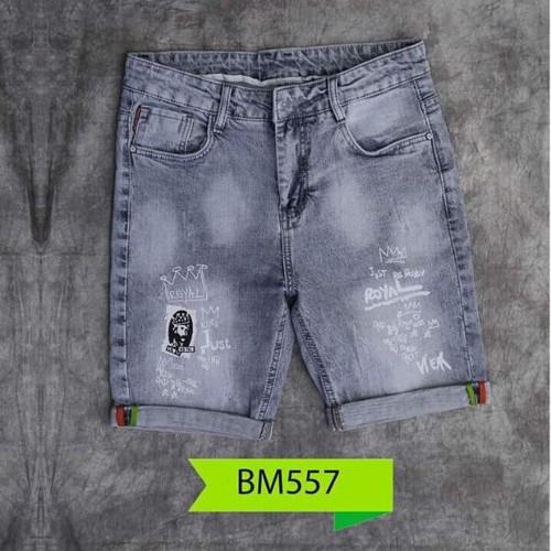 Quần short jeans nam wash