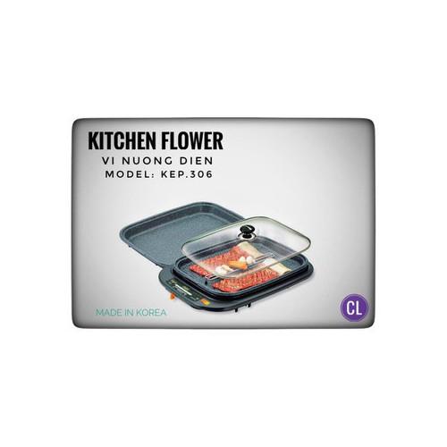 Vỉ nướng điện Kitchen Flower Cookin KEP-306 (Đen)