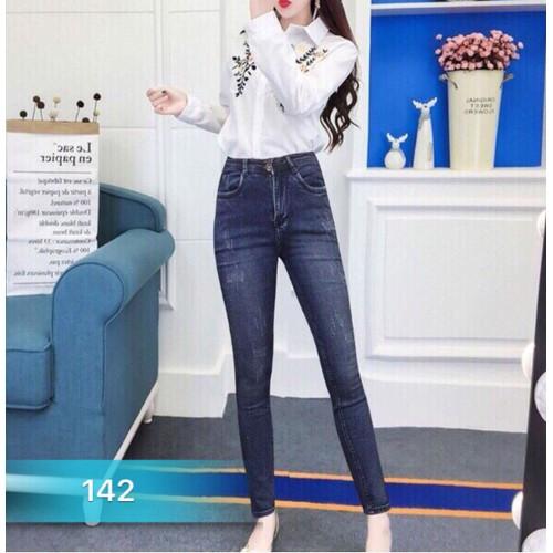 Quần jean nữ lưng cao đơn giản - 8035895 , 17710602 , 15_17710602 , 250000 , Quan-jean-nu-lung-cao-don-gian-15_17710602 , sendo.vn , Quần jean nữ lưng cao đơn giản