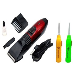 Tông đơ cạo râu, cắt tóc Kemei 730 và 2 dụng cụ lấy ráy tai có đèn tặng kèm