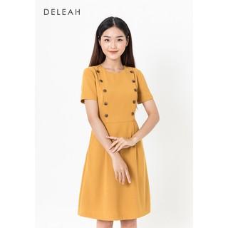 De Leah - Đầm Xoè Nẹp Trên - Vàng - VL1921021V thumbnail