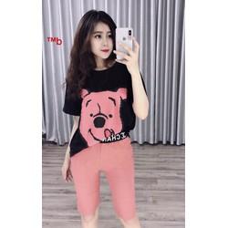 Đồ bộ nữ mặc nhà hình gấu POOH