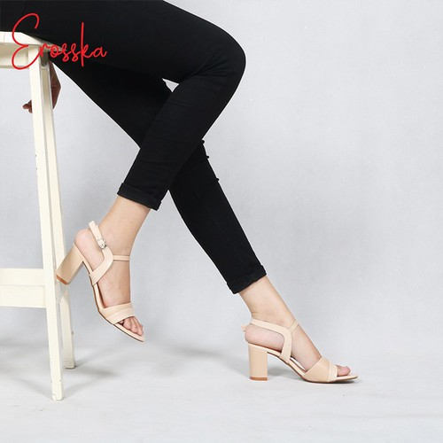 Giày Sandal Cao Gót Nữ Thời TrangErosska EM004 Màu Nude