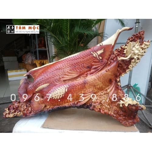 Tượng gỗ cá Kim Long - Cá Rồng bằng gỗ hương ta - 4923040 , 17736220 , 15_17736220 , 5000000 , Tuong-go-ca-Kim-Long-Ca-Rong-bang-go-huong-ta-15_17736220 , sendo.vn , Tượng gỗ cá Kim Long - Cá Rồng bằng gỗ hương ta