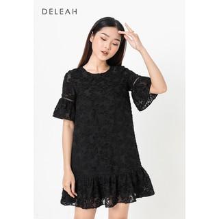 De Leah - Đầm Suông Nấm - Đen - VL1831081D thumbnail