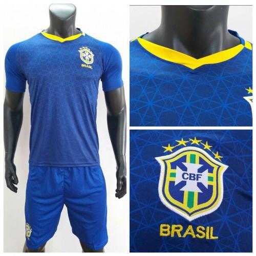 Bộ quần áo bóng đá đôi tuyển Brazil mẫu mới 2019