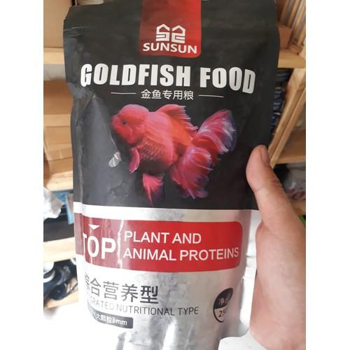 Thức ăn chuyên biệt dành cho cá vàng, cá ba đuôi gói 250g