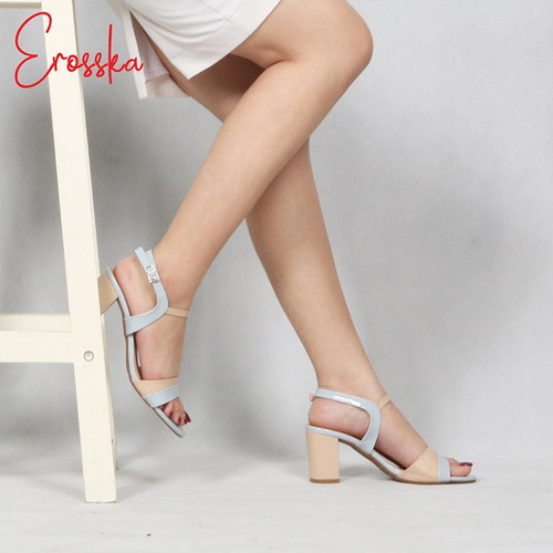 Giày Sandal Cao Gót Nữ Thời TrangErosska EM004 Màu Xanh