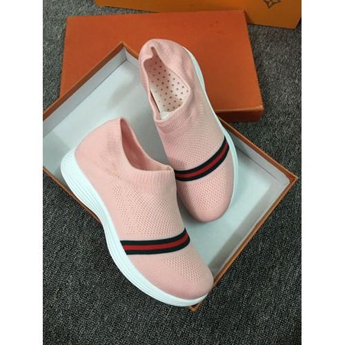 Giày lười thun nữ êm chân