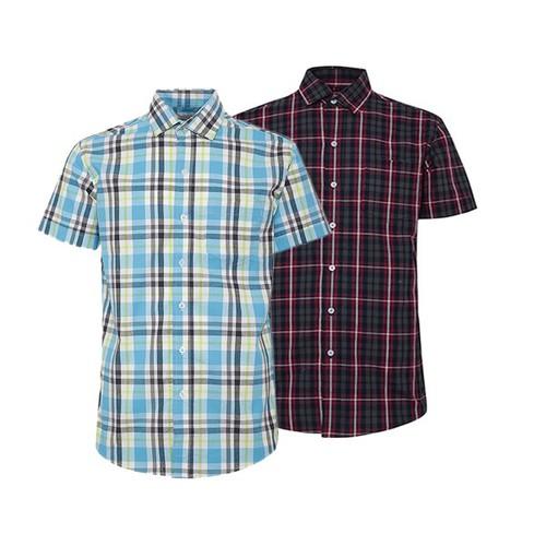 Combo 2 áo sơ mi nam sọc caro phong cách mới SMC256