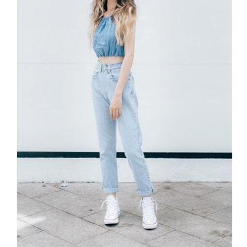 Quần baggy nữ jean cao cấp hàng chuẩn shop thời trang