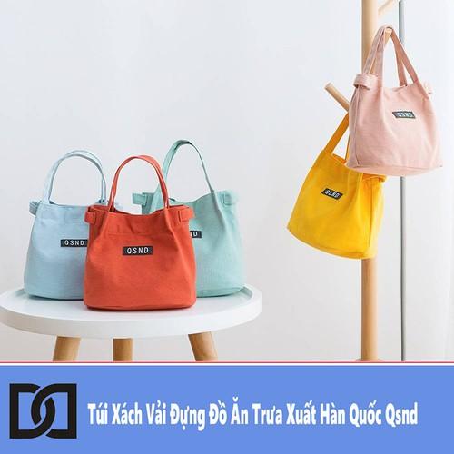 Túi Xách Vải Đựng Đồ Ăn Trưa Xuất Hàn Quốc Qsnd
