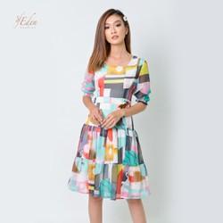 Đầm Xòe Voan Cao Cấp Thời Trang Eden - Một màu