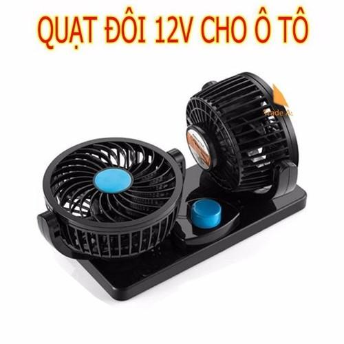 Quạt máy đôi mini 12V trên ô tô, xe hơi xoay 360 độ - 4924702 , 17738639 , 15_17738639 , 290000 , Quat-may-doi-mini-12V-tren-o-to-xe-hoi-xoay-360-do-15_17738639 , sendo.vn , Quạt máy đôi mini 12V trên ô tô, xe hơi xoay 360 độ