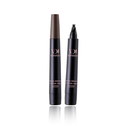 Bút xăm lông mày VDIVOV Mega Brow Tinted Pen Comb 03 2g