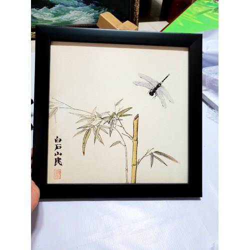 Tranh in trên vải canvas-Kèm khung như hình-Kt: 35x35Cm