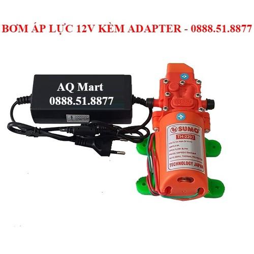 Bơm áp lực 12V 60W kèm Adapter 12V 5A