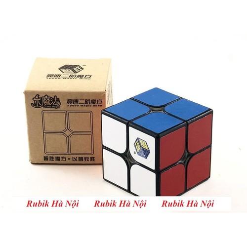Rubik 2x2x2 Yuxin Little Magic Đen Có Nam Châm