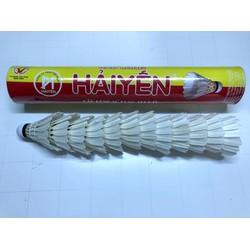 01 ống cầu lông Hải Yến đỏ vàng - cầu thi đấu - 12 quả