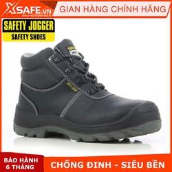 Giày bảo hộ lao động nam Jogger Bestboy S3 cổ cao, da bò thật, chống nước tiêu chuẩn bảo hộ S3 Châu Âu