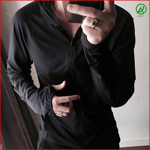Áo Chống Nắng - Áo Chống Nắng Nam Nữ Vải Cotton Nhật Co Dãn Màu Đen Loại 1 - Giảm Nhiệt - Làm Mát Cơ Thể ACN01