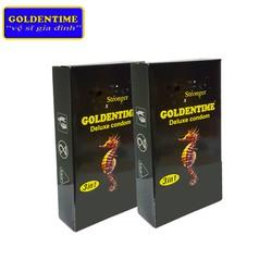 Bao cao su Goldentime 3 in 1 Hộp 12 chiếc - Combo 2 hộp - Chính hãng