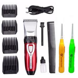 Tông đơ cắt tóc gia đình cao cấp Jichen 0817 tặng kèm 2 dụng cụ lấy ráy tai có đèn