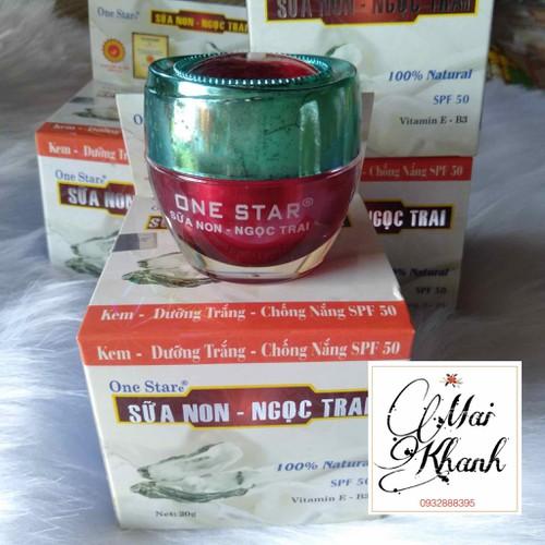 KEM DƯỠNG TRẮNG CHỐNG NẮNG SỮA NON NGỌC TRAI ONE STAR ĐỎ - 8105722 , 17738889 , 15_17738889 , 179000 , KEM-DUONG-TRANG-CHONG-NANG-SUA-NON-NGOC-TRAI-ONE-STAR-DO-15_17738889 , sendo.vn , KEM DƯỠNG TRẮNG CHỐNG NẮNG SỮA NON NGỌC TRAI ONE STAR ĐỎ