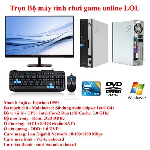 * Hàng nhập khẩu* Trọn bộ máy vi tính để bàn dùng để học online, bán online, thi toán olympic, bảo hành chu đáo