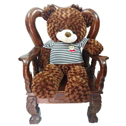 Gấu Bông Teddy Cao Cấp Áo Thun Khổ Vải 1m4 Cao 1M2 Màu Nâu Chocolate - 7696410 , 17730545 , 15_17730545 , 519000 , Gau-Bong-Teddy-Cao-Cap-Ao-Thun-Kho-Vai-1m4-Cao-1M2-Mau-Nau-Chocolate-15_17730545 , sendo.vn , Gấu Bông Teddy Cao Cấp Áo Thun Khổ Vải 1m4 Cao 1M2 Màu Nâu Chocolate