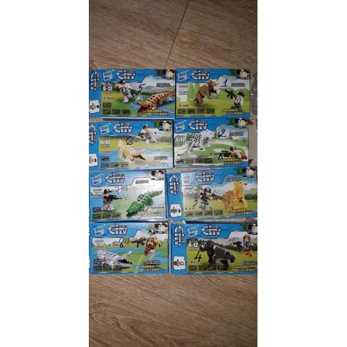 Set 8 hộp lắp ráp Legocity 027 săn Gấu và Hổ trọn bộ