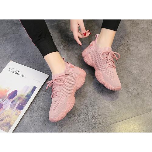 Giày thể thao nữ dệt lưới thoáng khí, êm chân