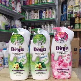 Sữa Tắm Deya hoa anh đào Kèm bông Tắm 850ml - 8851427015373