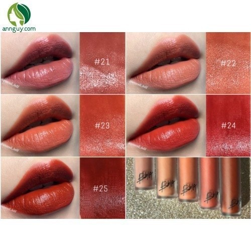 Son Kem Bbia màu 22 Last Velvet Lip Tint  – Crystallization of Melo - Cam beige
